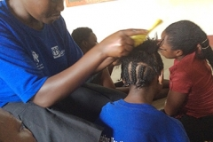 voccational hair dressing training.
